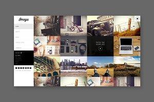 Omega - Left Menu Portfolio HTML