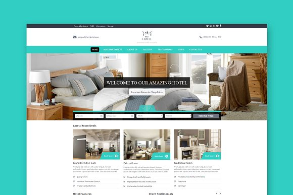 My Hotel Booking HTML Template