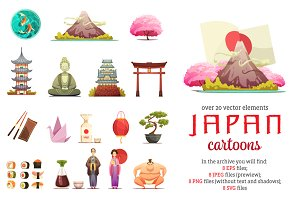 Japan Cartoon Set