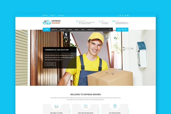 Express Movers HTML Template