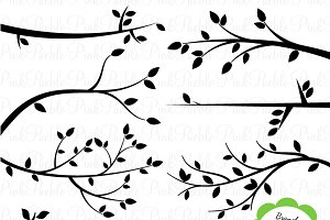 Branch Silhouettes Clipart & Vectors