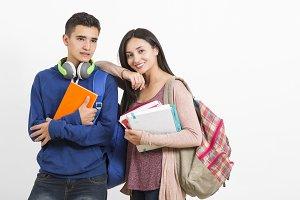 High school students interacting
