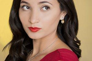 Beautiful and elegant latin woman