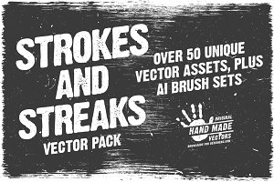 Strokes and Streaks - Vector pack