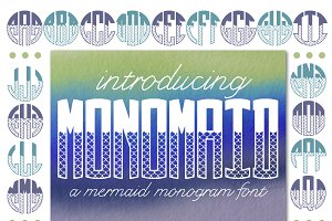 Monomaid Monogram Font