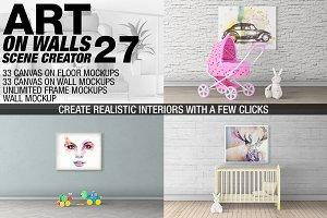 Canvas Mockups - Frames Mockups v 27