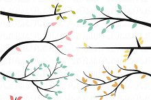 Branch Silhouette Photoshop Brushes