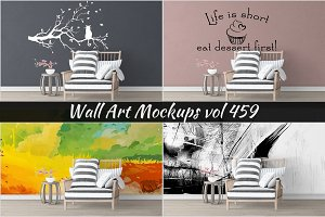 Wall Mockup - Sticker Mockup Vol 459