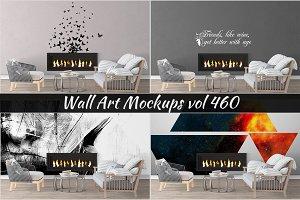 Wall Mockup - Sticker Mockup Vol 460