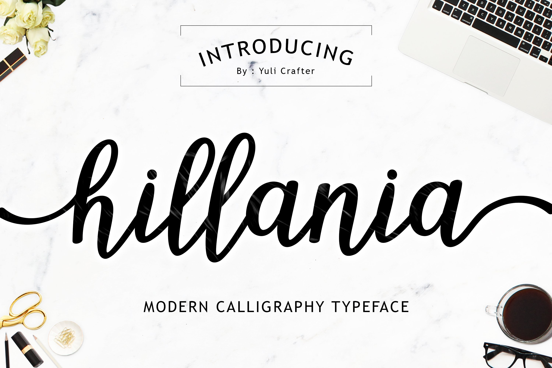 Hillania script font off fonts creative