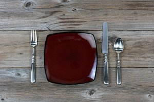 Basic Silverware and Dinner Plate