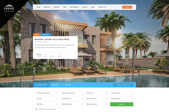 Cedile Real Estate HTML Template