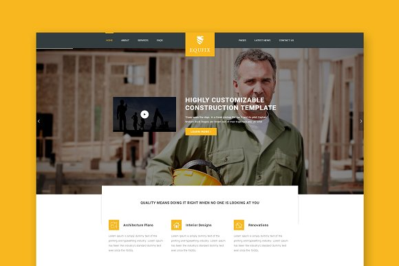 Equfix Construction HTML Template