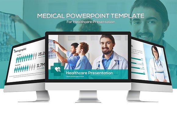Medical powerpoint template presentation templates creative market medical powerpoint template presentations toneelgroepblik Image collections