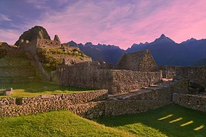 Beautiful morning in Machu Picchu