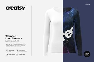 Womens Long Sleeve 2 Mockup Set