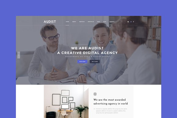 Audist Agency HTML Template