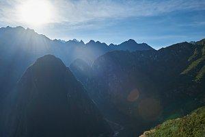 Mountain summer sunny landscape