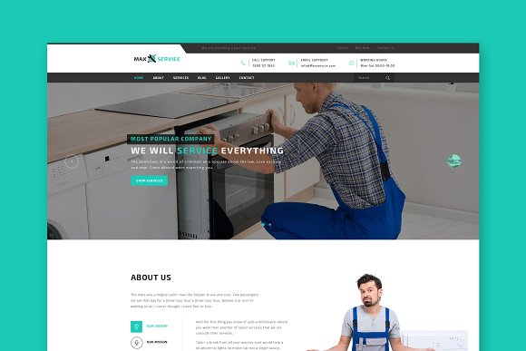 Max Electric HTML Template