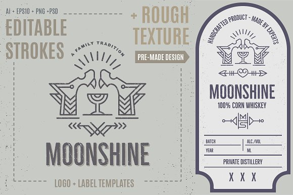 Wolf Logo Label Template