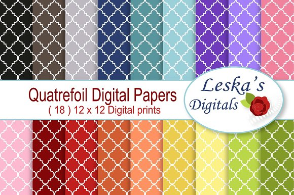 Quatrefoil Digital Paper Pack