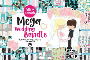 Mega Wedding Bundle, 300+ elements