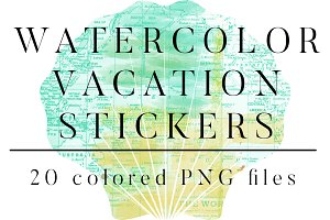 Watercolor Vacation Travel