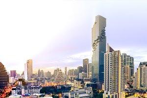 Modern building in Bangkok city.
