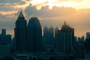 Modern building in Bangkok.