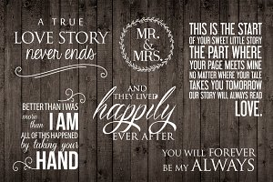 Word Photo Overlays Set - Love Words