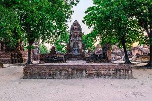 Ayutthaya historic park, Thailand.