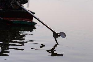 Boat tiller.