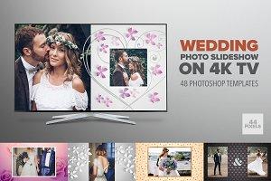 Wedding album slideshow on 4K TV
