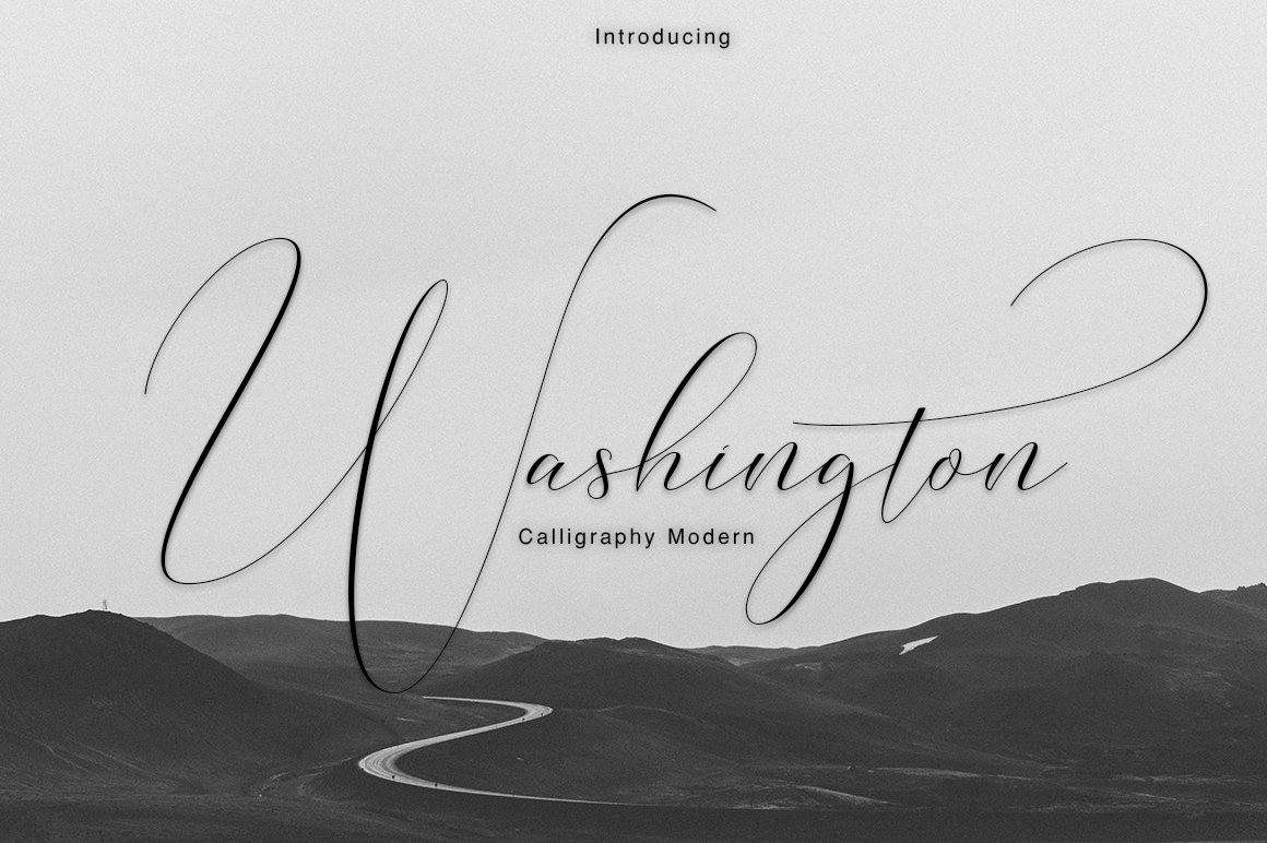Washington calligraphy modern script fonts creative market