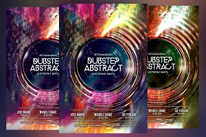 Dubstep Abstract Flyer