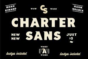 Charter Sans ( Badges Included )