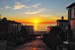 Manhattan Beach at Sunset