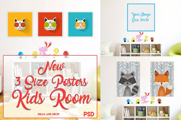 3 Size Posters Mock-up
