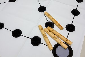 Korean traditional game yut nori, game background and wooden sticks