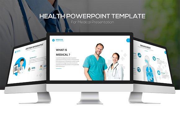 Health Powerpoint Template Presentation Templates Creative Market