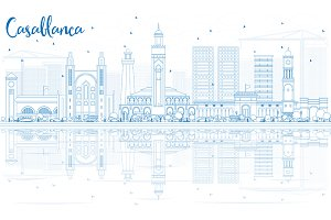 Outline Casablanca Skyline
