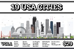 19 USA Cities