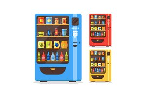Vending Machine Set with Food