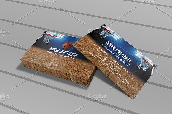 Basketball business card business card templates creative market colourmoves