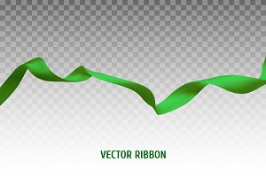 Green vector ribbon
