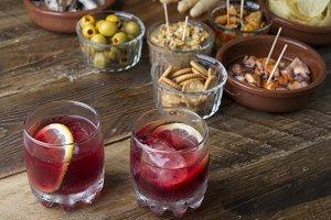 Vermouth with tapas