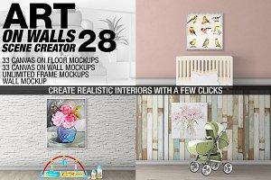 Canvas Mockups - Frames Mockups v 28