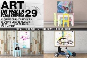 Canvas Mockups - Frames Mockups v 29