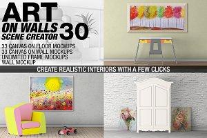 Canvas Mockups - Frames Mockups v 30