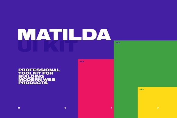 Website Templates - MATILDA. UI Kit for Photoshop